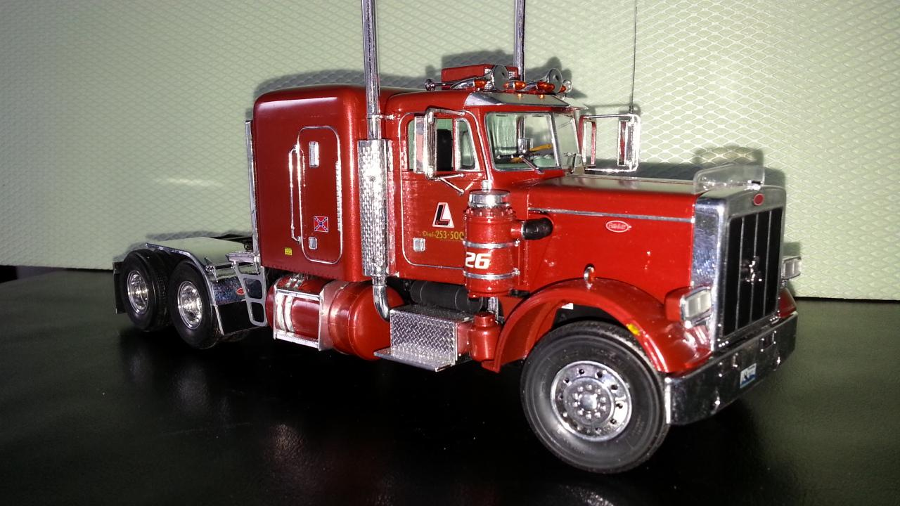 peterbilt 379 Tractor Trailer Truck w/ Decals by Welly 1 ...  Peterbilt Model Car