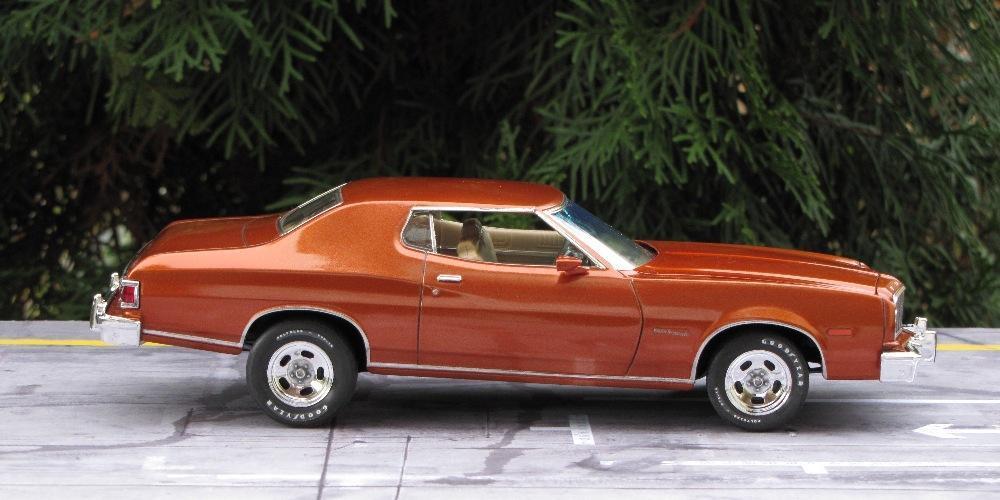 1975 ford gran torino under glass model cars magazine. Black Bedroom Furniture Sets. Home Design Ideas