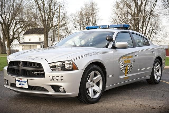 Ohio State Highway Patrol Car Color Model Building