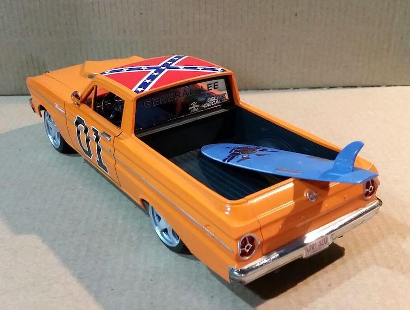 "Model Cars Magazine Forum: 1965 Ford Ranchero ""General Lee"" (Trumpeter 1:25)"