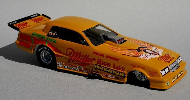 the miller high life warrior - drag racing models