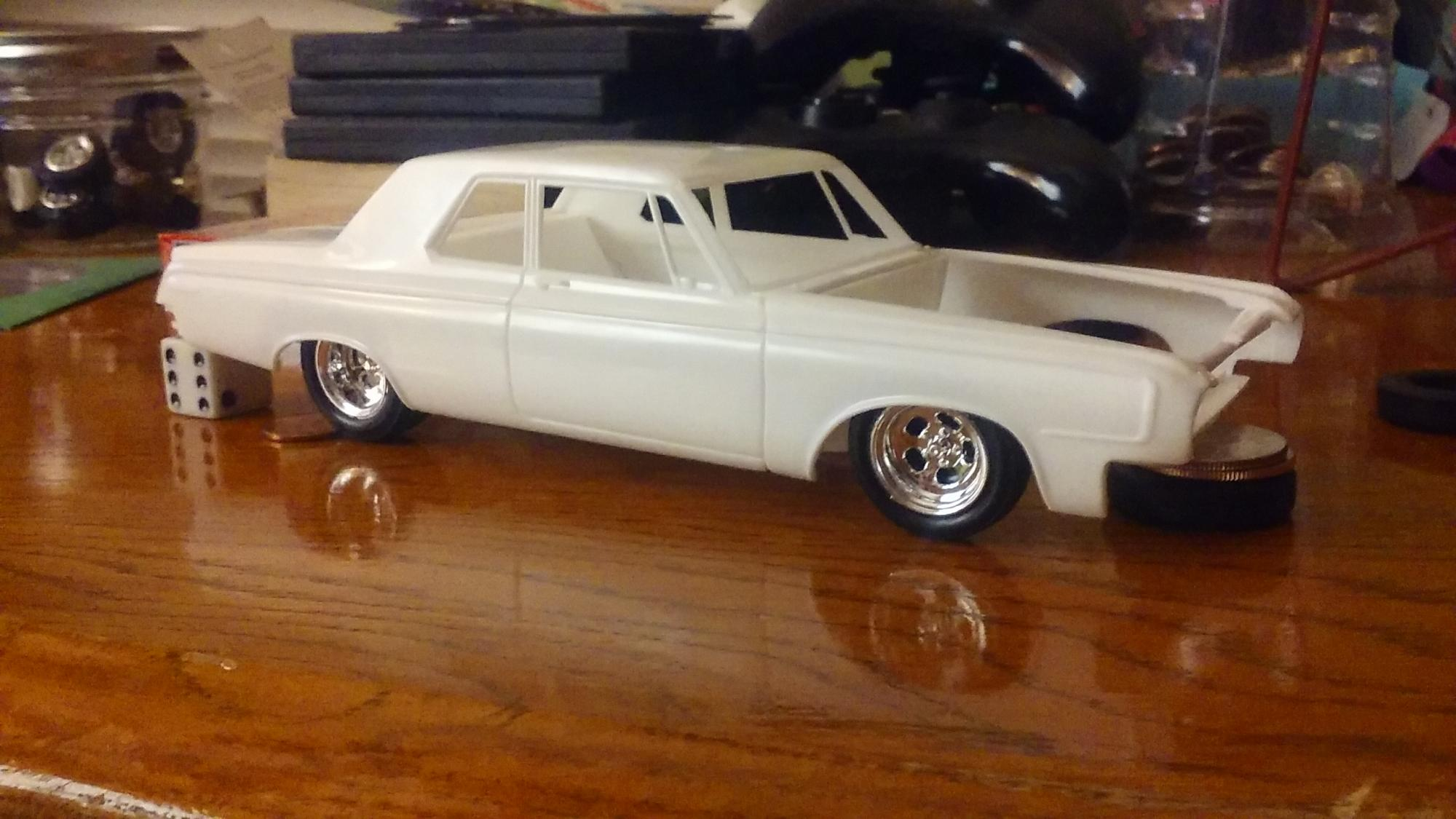 New Wip 64 Dodge 330 Color Me Gone On The Workbench Model Cars 1964 Max Wedge 20160508 124728