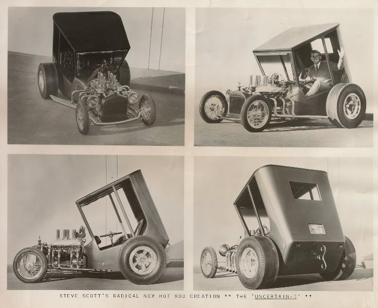 PRESS PHOTO OF STEVE SCOTT'S 1966 CUSTOM HOT ROD THE UNCERTAIN T MODEL T.jpg