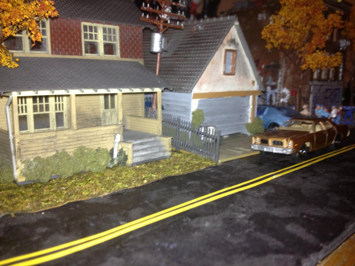 My old Queens NY neighborhood in HO scale - Dioramas - Model