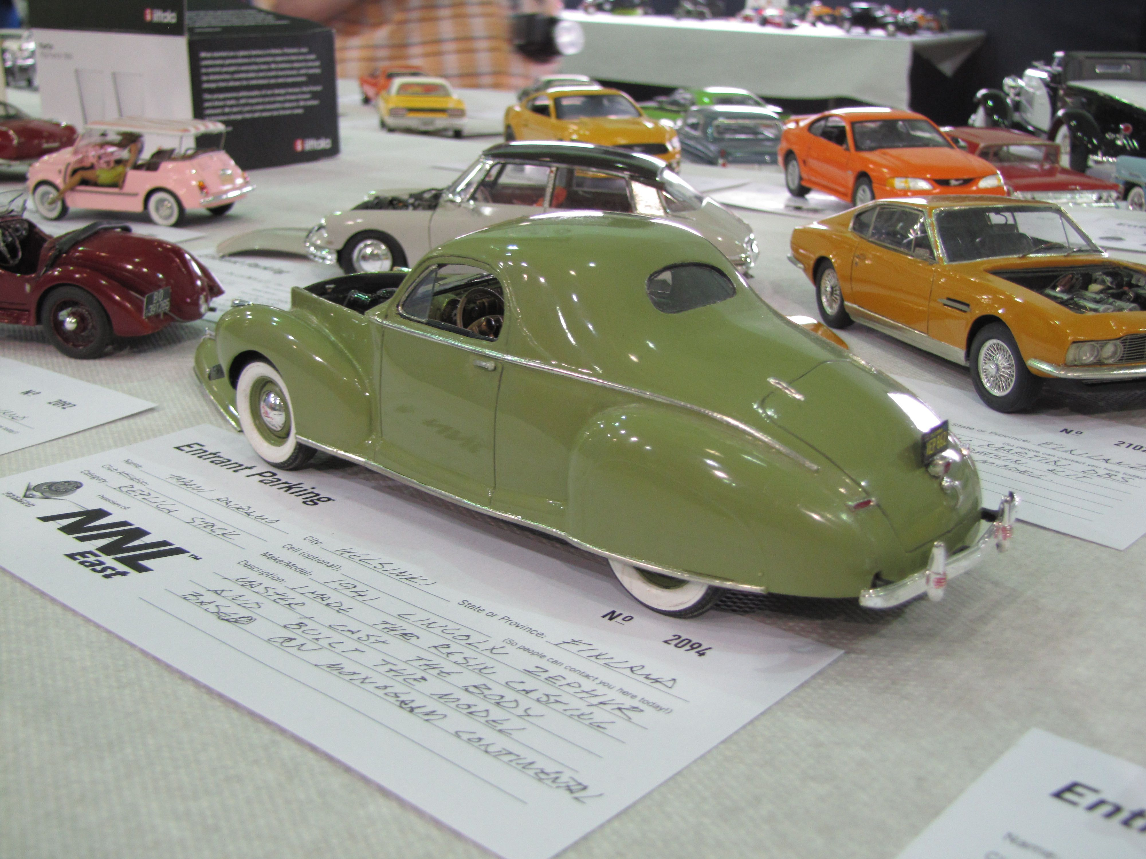 New From Airtrax 1941 Lincoln Zephyr Coupe Car Aftermarket