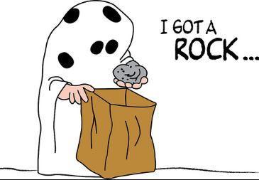 PEANUTS- I GOT A ROCK.JPG