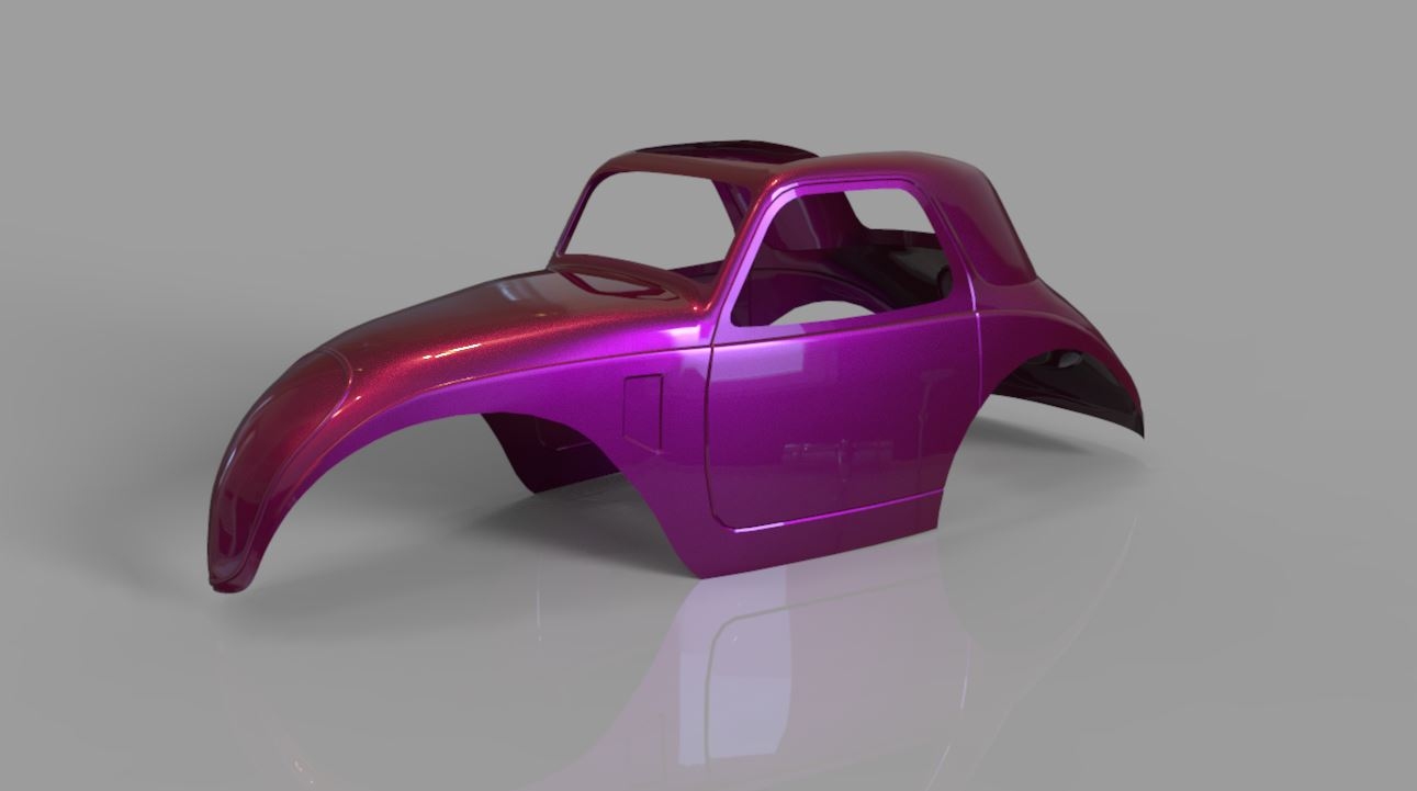 3d Printed Fiat Topolino Body On The Workbench Model Cars