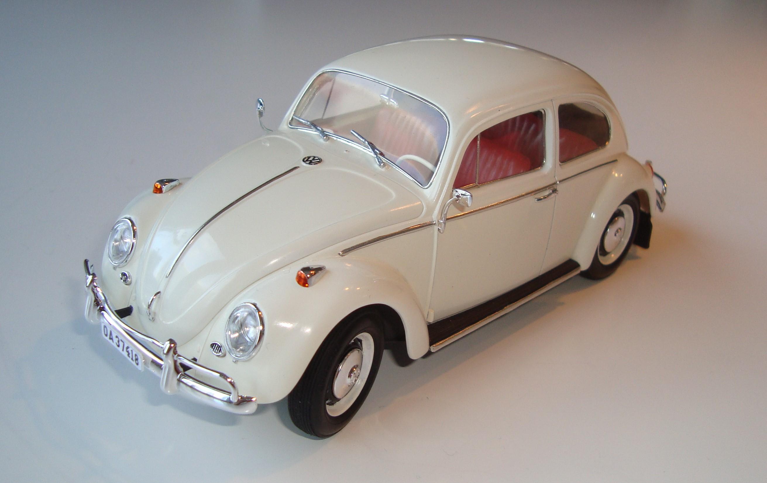 "VW 1300 Beetle 66´ ""Pearl White"" Tamiya - Under Glass ..."