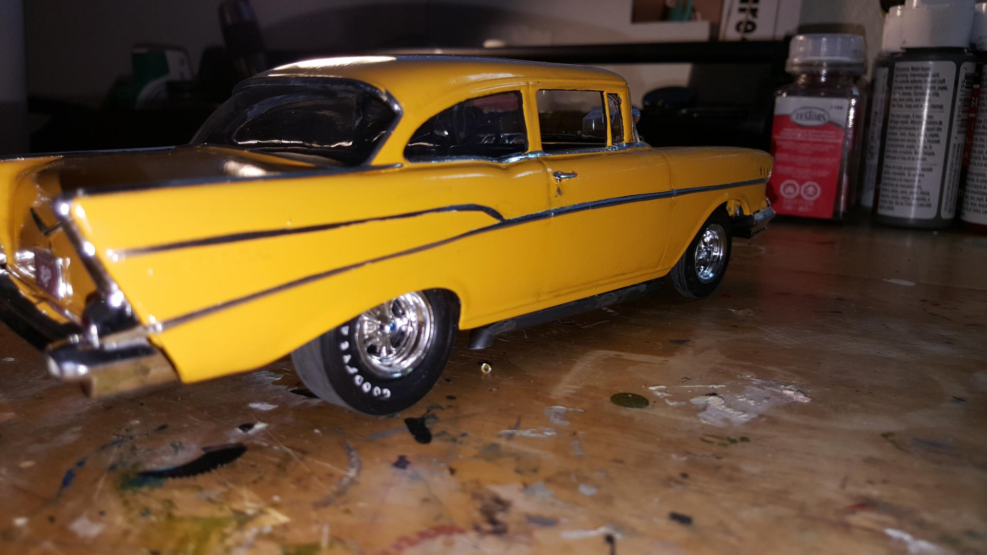 Hollywood Knights 57 Chevy Under Glass Model Cars
