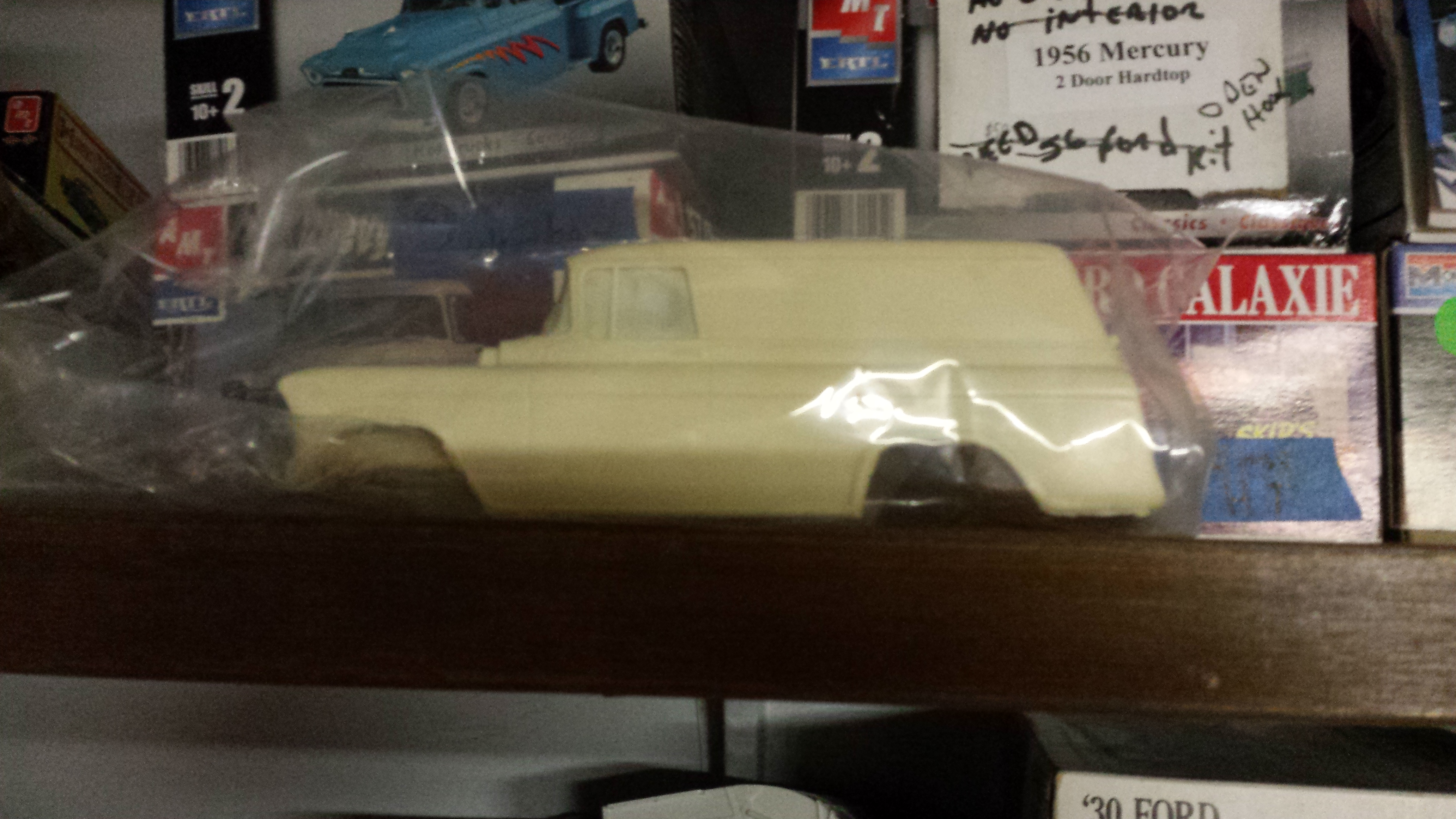 55 chevy panel and 57 suburban resin bodies - Under Glass - Model