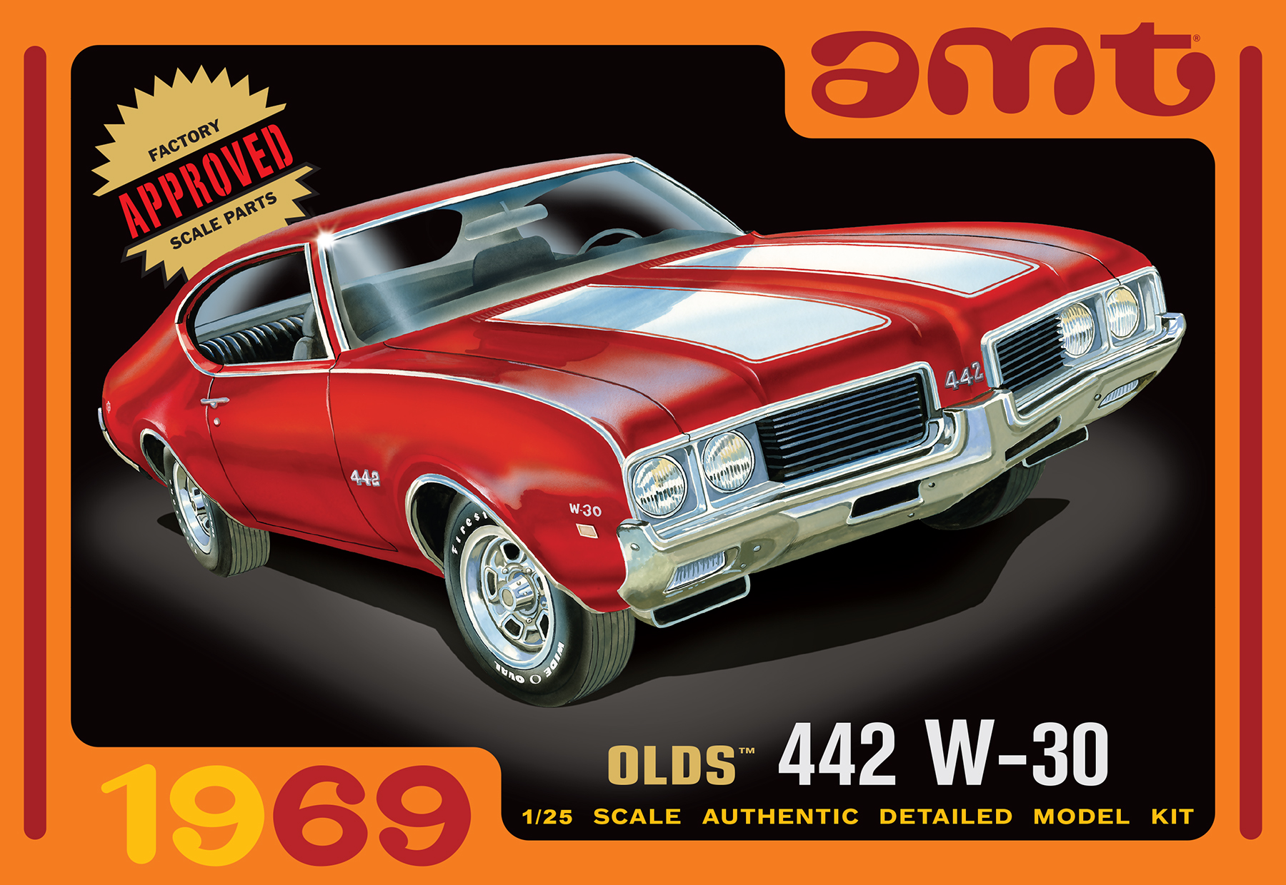 1/25 AMT 1969 Olds W-30 442 - Car Kit News & Reviews - Model Cars ...