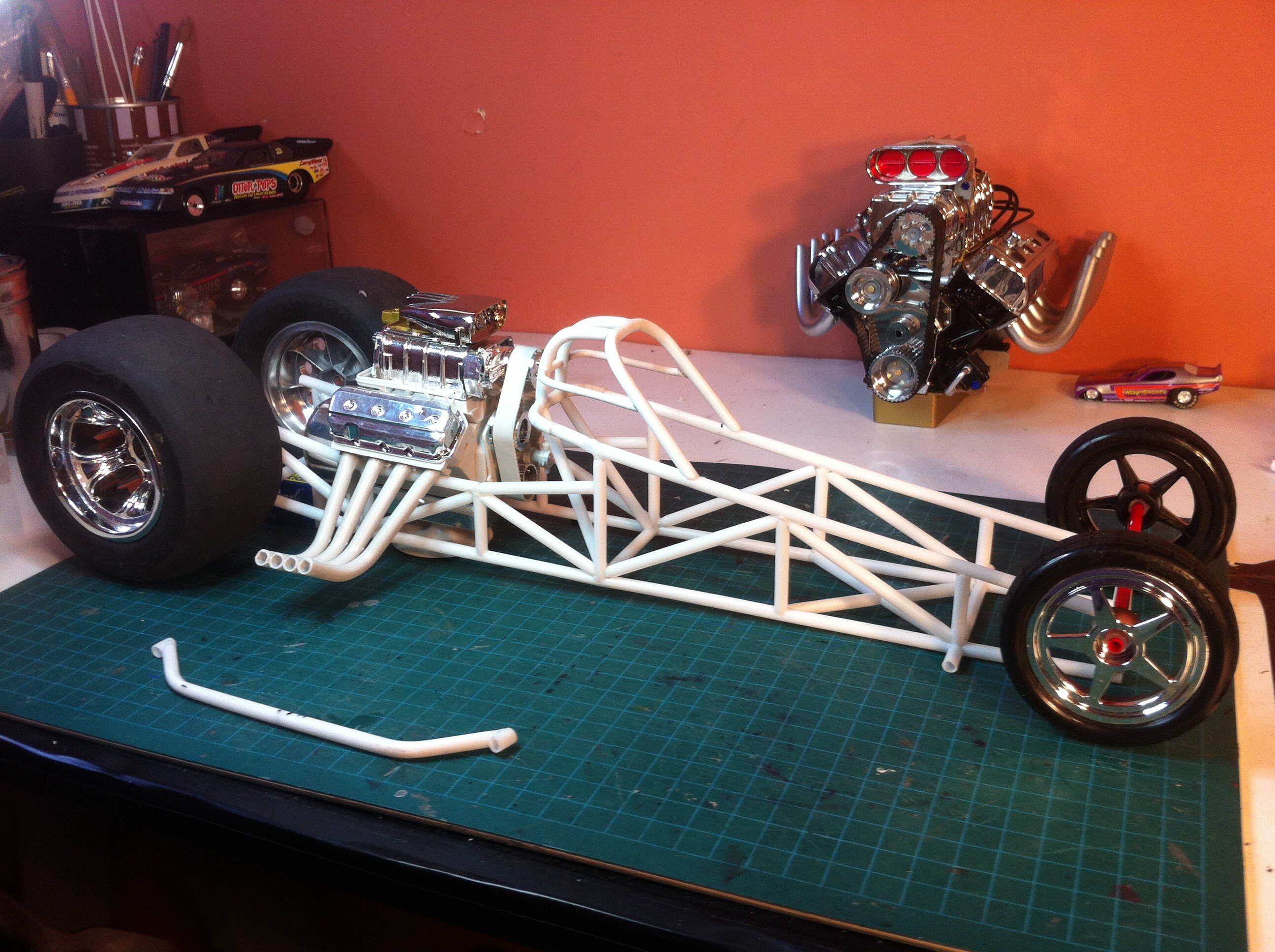 scratch building 2   1  8 scale funny cars