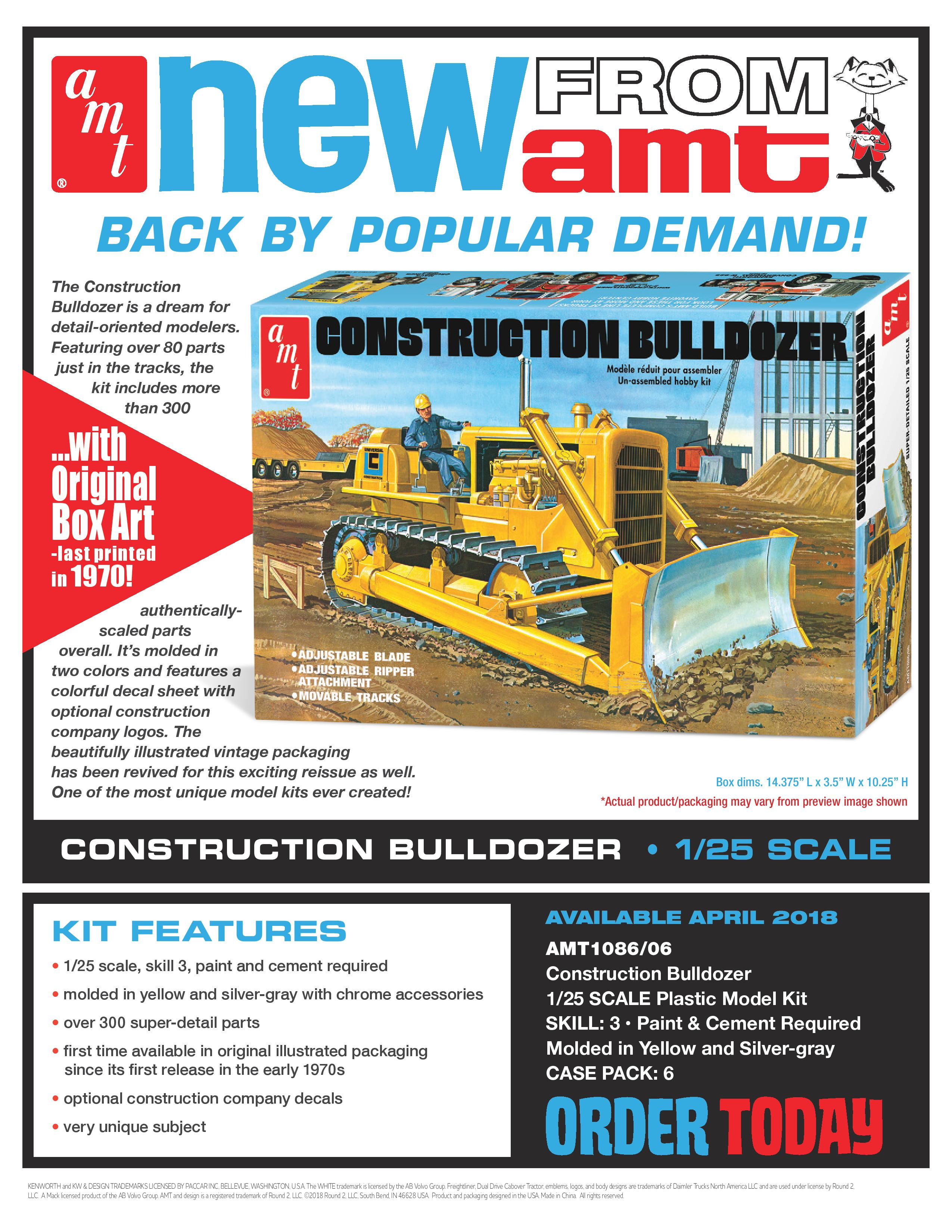 AMT Construction Bulldozer - Truck Kit News & Reviews