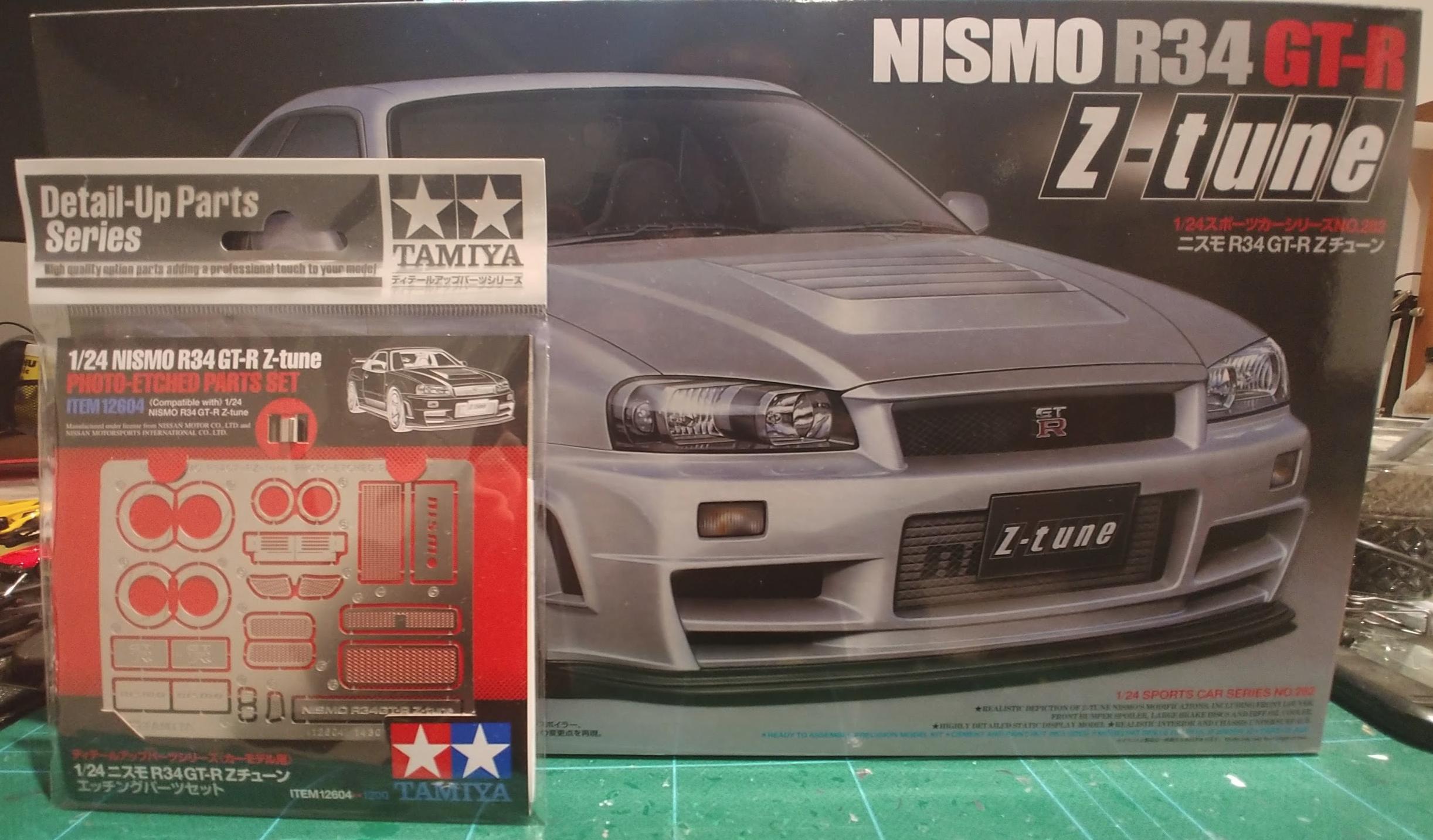 Nissan skyline GTR R34 Z-Tune - On The Workbench - Model Cars