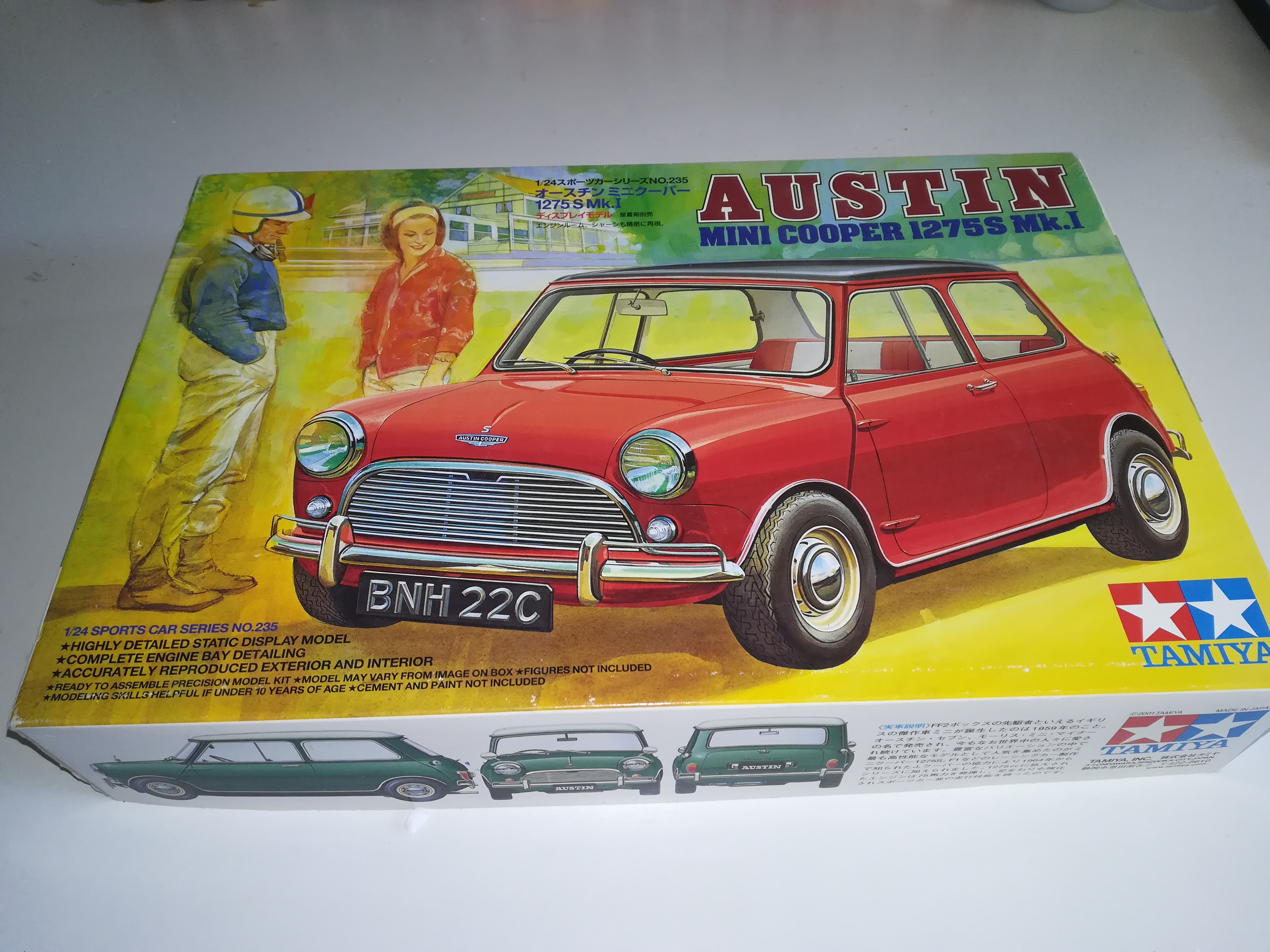 Building A Tamiya 124 Austin Mini Cooper On The Workbench Model
