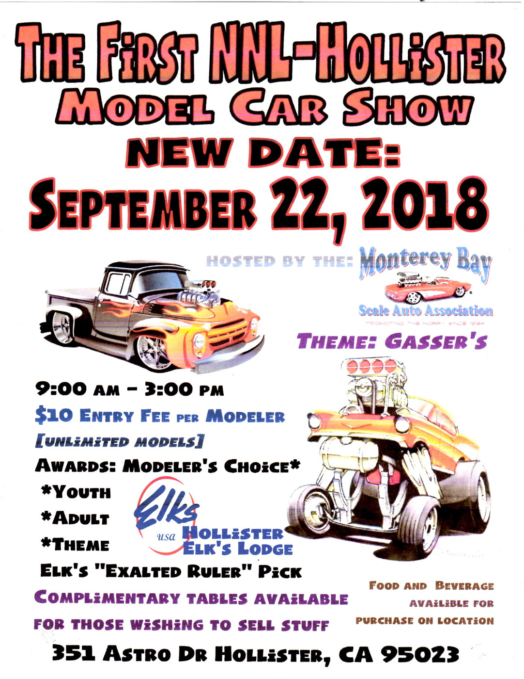 The First Hollister NNL Date Change Contests And Shows Model - Hollister car show 2018