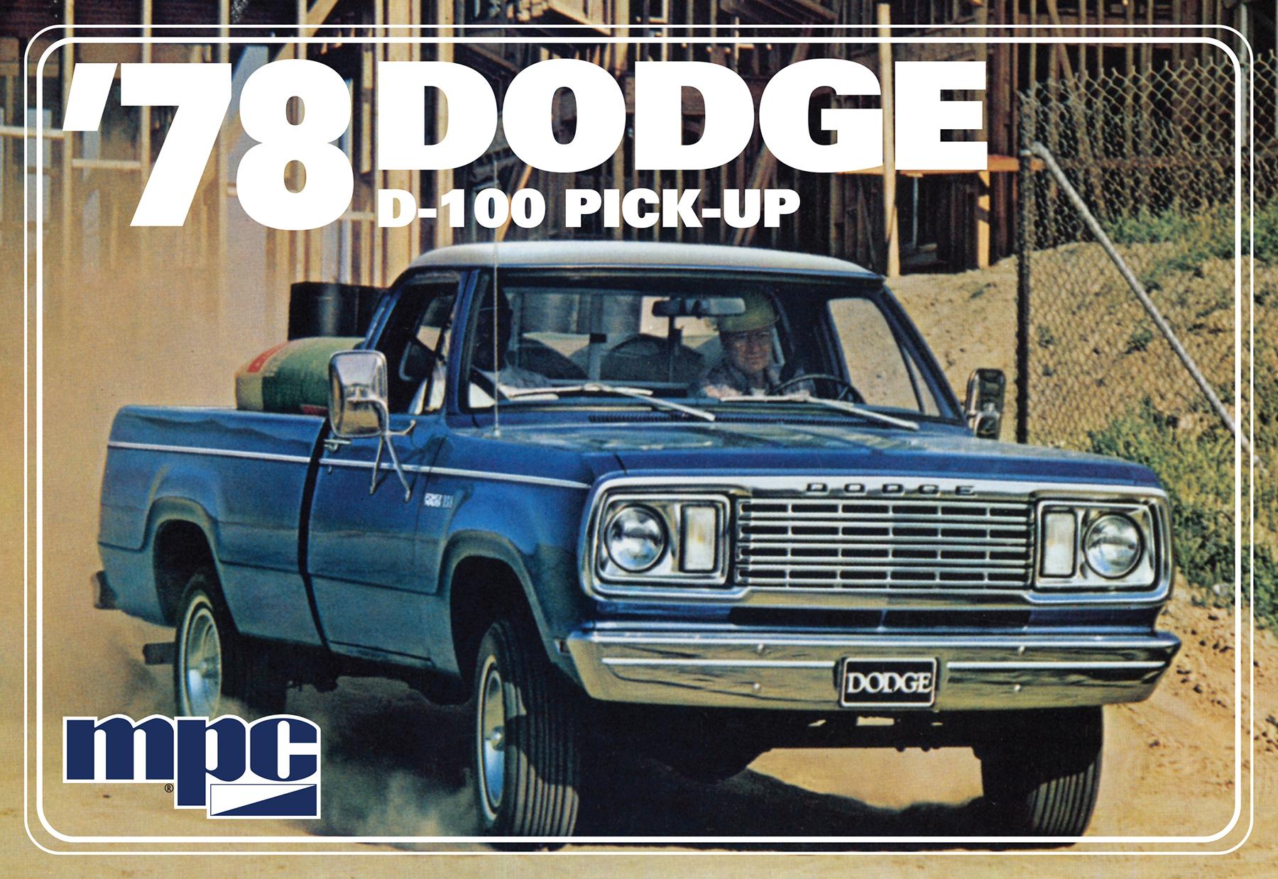 1 25 Mpc 78 Dodge D 100 Pickup Truck Kit News Reviews Model Cars Magazine Forum
