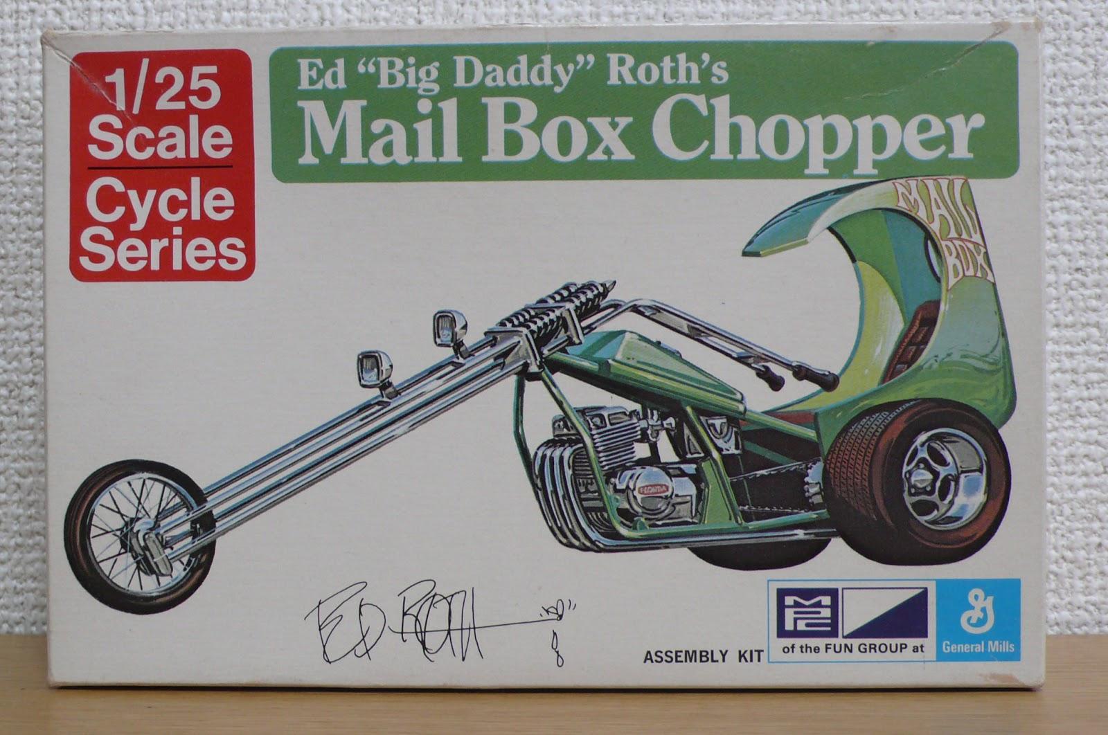 MPC 892 MAIL BOX TRICK TRIKE CHOPPER BIG DADDY ED ROTH #1 KIT 1:25 McM FS