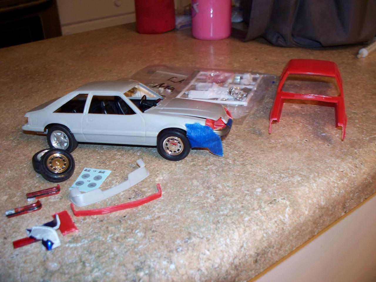 updated pics my 1985 86 gt 5 0 foxbody mustang build on the workbench model cars magazine forum. Black Bedroom Furniture Sets. Home Design Ideas