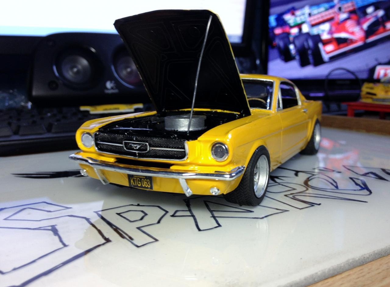 65 Mustang 2 2 Fastback Under Glass Model Cars