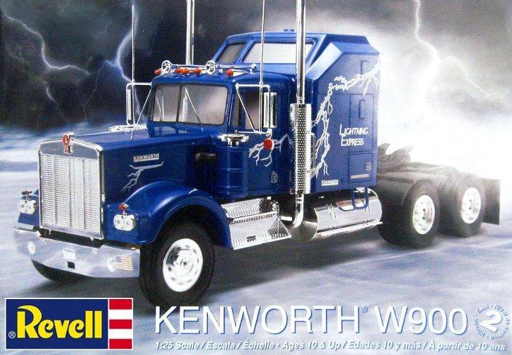 1  25 revell kenworth w900 snap kit - truck kit news  u0026 reviews