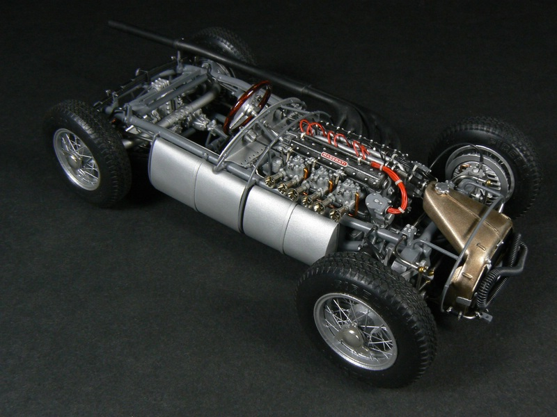 maserati 250f - grand prix champion 1957 1/20 - under glass - model