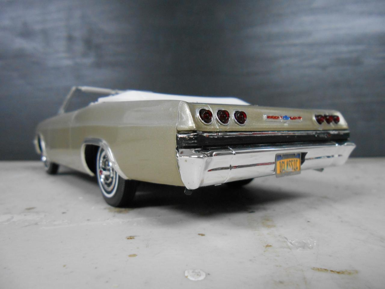 65 Chevy Impala Ss Convertible Under Glass Model Cars