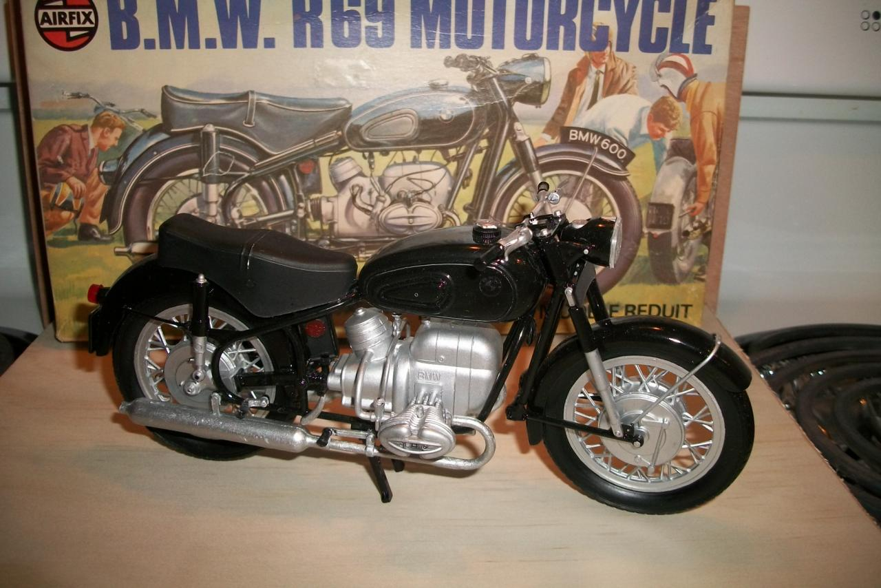 Vintage Airfix BMW R69 Motorcycle - All the Rest - Model