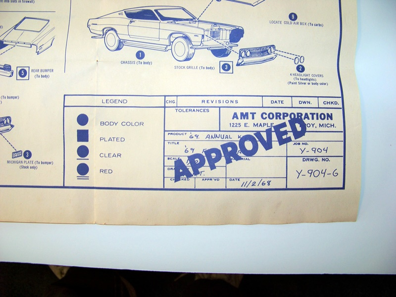 old amt kit instruction sheets - general