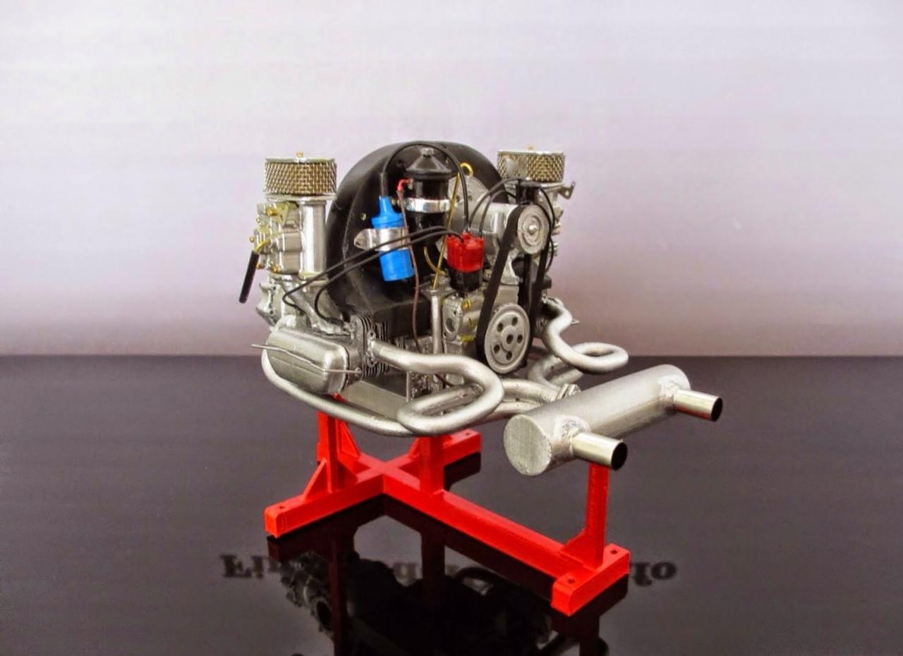 porsche engine 356 scale 1 8 under glass model cars. Black Bedroom Furniture Sets. Home Design Ideas