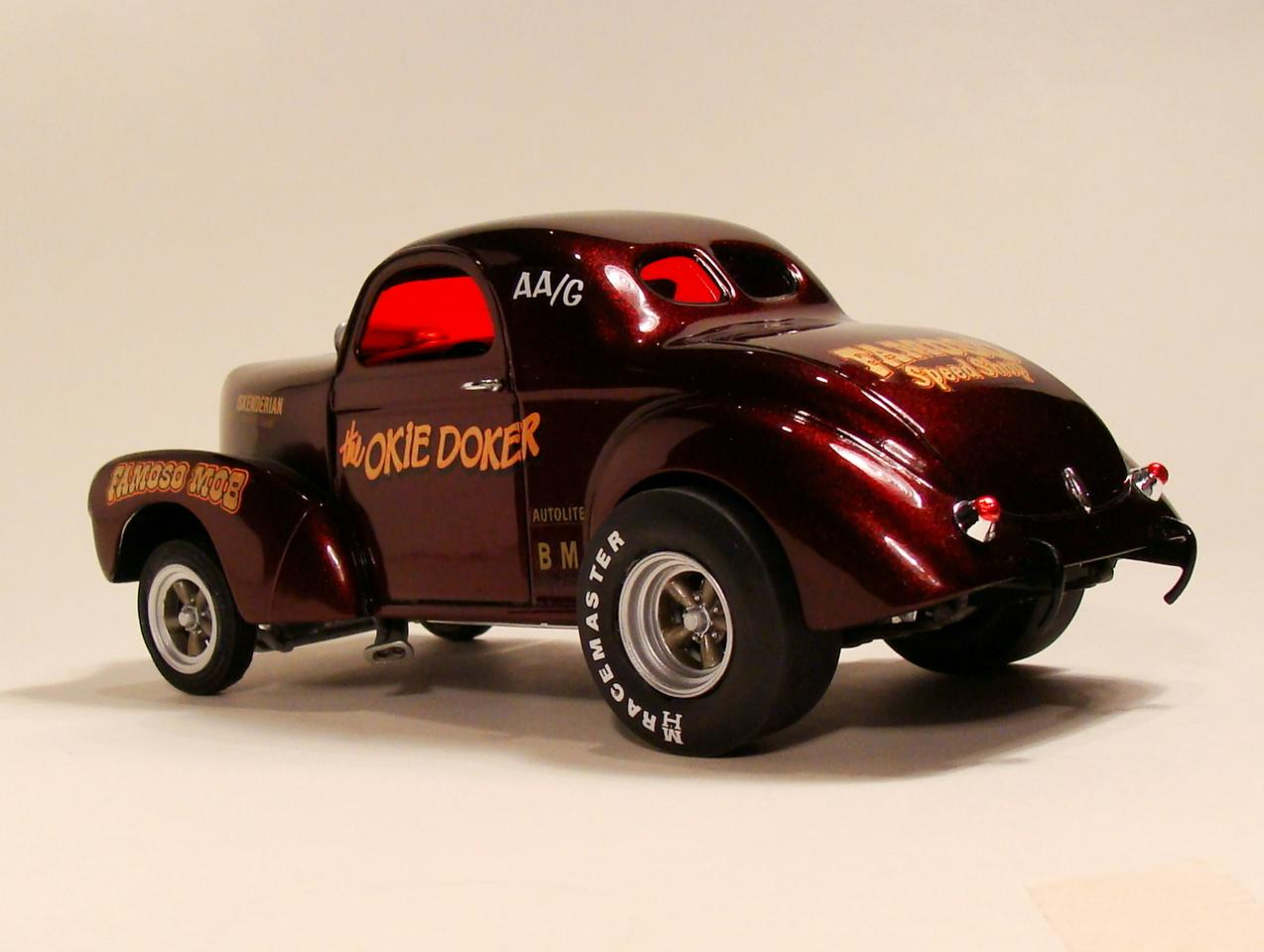 amt 1940 willys coupe - drag racing models