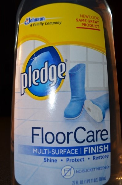 Pledge tile and vinyl floor finish with future shine
