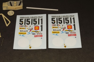 Ferrari 312 B Decals