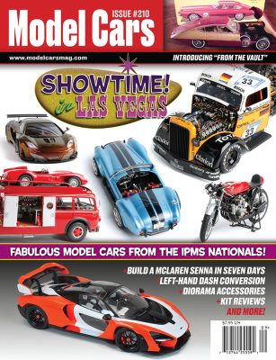 Issue 210 cover with featured cars